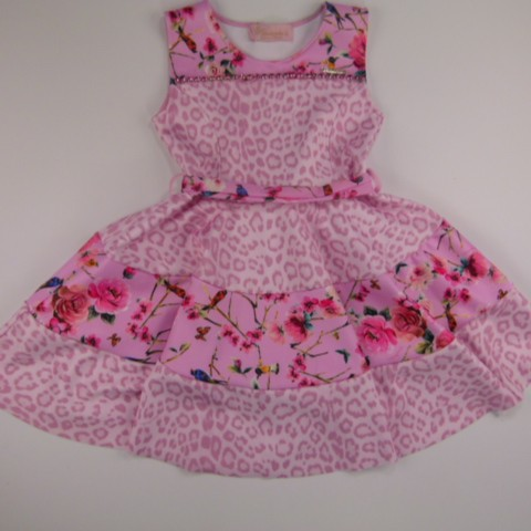 Vestido Neoprene Recortes Pituchinhus - 028619
