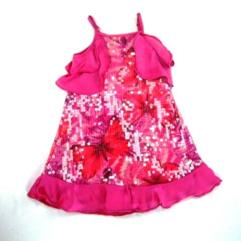 Vestido Paete Borboletas Animê - 023118