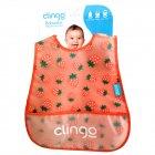 Babador Impermeável com Bolso estampa de morangos - Clingo - 041727