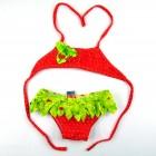 Biquíni Baby Bordado Estampa de Morangos Siri  - 033837
