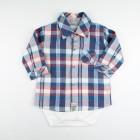 Body Avulso Com Camisa Xadrez Noruega - 033085