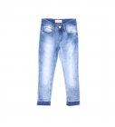 Calça Jeans Menina Cristais Pituchinhus