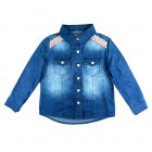 Camisa Jeans Bordados Pituchinhu's - 038061