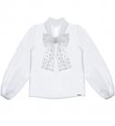Camisa Tricoline Menina Perolas Pituchinhus