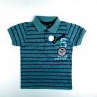 Camiseta Polo de Malha Listras Brandili - 035767