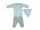 Imagem - Conj Body Touca e Calca Anjos Baby cód: 045133
