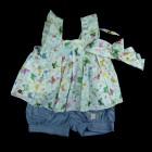 Conjunto Blusa Bata com Tiara e Shorts Anjos Baby - 035124