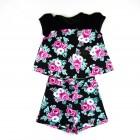 Conjunto Blusa Com Tule e Short Floral Turma da Malha - 033753