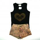 Conjunto Blusa e Shorts Animal Print Vrasalon - 034032