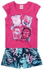 Conjunto blusa e shorts Butterflies and Birds - Brandili - 040584