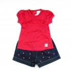 Conjunto Blusa e Shorts Cereja Baby Fashion - 035228