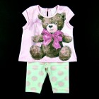 Conjunto Blusa Ursa e Legging Poa Pituchinhu's Mini - 033179