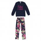 Conjunto Blusão Calça Estampa Floral Malwee - 037250