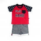 Conjunto Body Camiseta e Bermuda Play Hard Sleeping pill - 034783