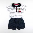 Conjunto Body e Bermuda Baby Playwear Navy Piu Piu - 035062
