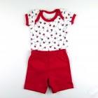 Conjunto Body e Bermuda Masculina Avião Baby Fashion - 035529