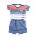 Conjunto Body e Shorts Masculino Coqueiros Tilly Baby - 35018