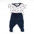 Conjunto Body Estampado Barquinhos e Calça Culote Tilly Baby - 035016