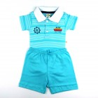 Conjunto Body Gola Polo e Bermuda Estampa Navio Best Club - 035399