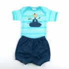 Conjunto Body Manga Curta e Shorts Best Club - 035401