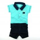 Imagem - Conjunto Body Polo e Bermuda Anjos Baby - 035104 cód: 035104