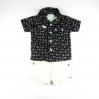 Imagem - Conjunto Camisa, Camiseta e Bermuda Cotele Piang Pee - 035343  cód: 035343