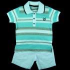 Conjunto Camisa Listrada Polo com Bermuda Noruega - 036202