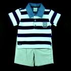 Conjunto Camisa Polo e Bermuda Anjos Baby - 035130