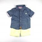 Conjunto Camisa Xadrez e Bermuda Ok & Friends - 035244