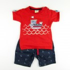Conjunto Camiseta Meia Malha e Bermuda Jeans have fun - 033416