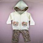 Conjunto Casaco com calça Ursinha Anjos Baby - 041283