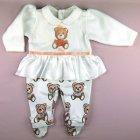 Conjunto Macacão e Manta Ursinha Anjos Baby - 041275