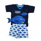 Pijama Menino Peixe Azul Cara de Criança