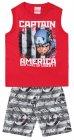 Conjunto regata e bermuda do Capitão América - Brandili - 040313
