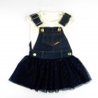 Conjunto Vestido Denim Baby e Body Pakita - 035685