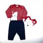 Kit Body com Calça e Babador Cachorrinho Best - 037635
