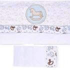 Lençol de Berço Linha Baby Blue Hug - 031474