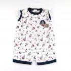 Macacão Curto Masculino Barquinhos Tilly Baby - 035021