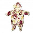 Macacão Floral Forrado Bordo Menina Tilly Baby