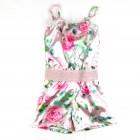 Macaquinho Cetim Estampado Floral Pituchinhu's For You - 033247