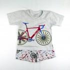 Pijama Curto Malha Bike Cara de Criança - 034129