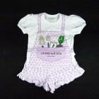 Pijama Curto Malha Jardineira Cara de Criança - 034094