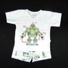 Pijama Curto Malha Robot Cara de Criança - 034131