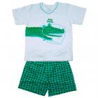Pijama Camiseta e bermuda masculina de Jacaré