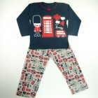 Pijama Longo Malha London Fem Cara de Criança - 030937