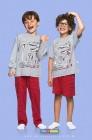 Pijama Longo Paleontólogo Cara de Criança - 038459