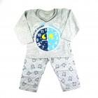 Pijama Longo Relógio Cara de Criança - 038460