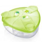 Pote para armazenagem de fórmula infantil e/ou leite em pó com 3 compartimentos - Mam