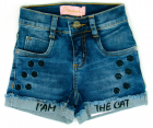 Short Cat Bordado Pituchinhus