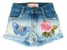 Short Jeans com bordados - Pituchinhus